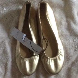 New New York & Company NY&C Ballet Flats Gold 6